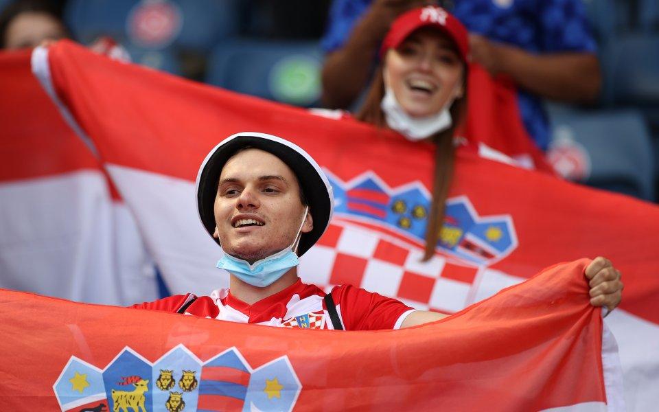 Привържениците на Чехия и Хърватия заеха всички позволени места на
