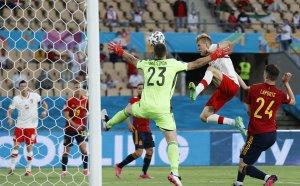 ГЛЕДАЙТЕ НА ЖИВО: Испания - Полша 1:1, ВАР в действие, домакините профукаха дузпа
