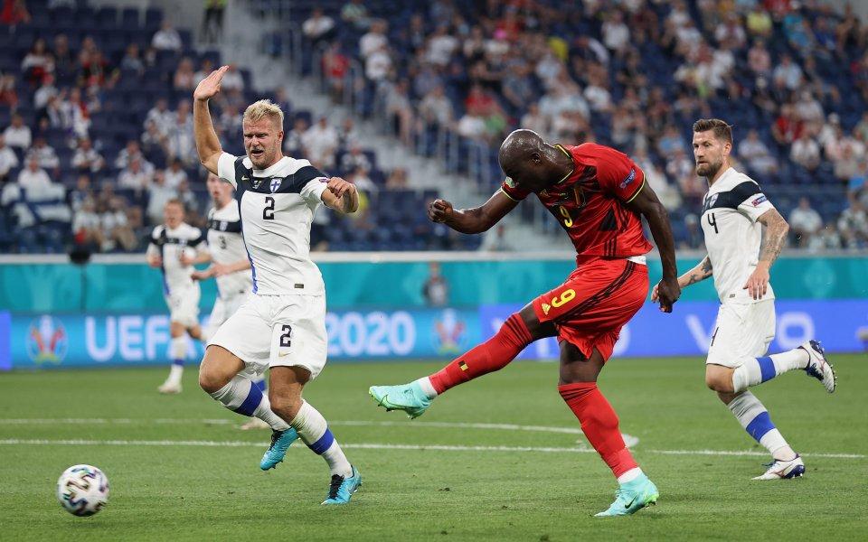Победата на Белгия с 2:0 над Финалндия в Група B