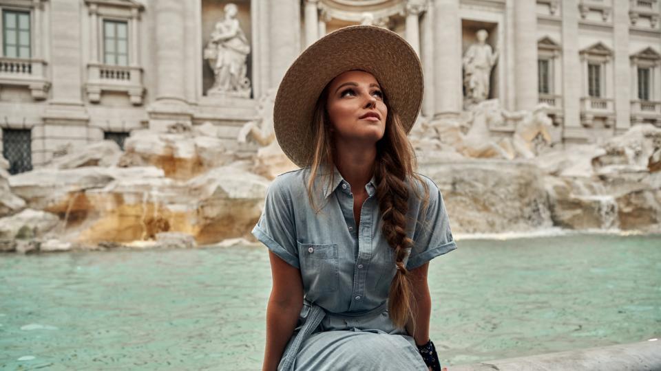 жена Италия пътуване пътешествие лято