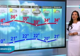 Прогноза за времето (23.06.2021 - обедна емисия)