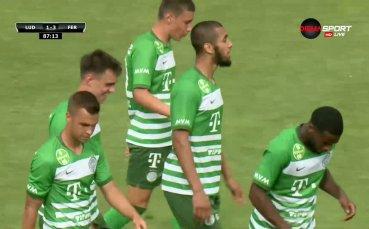 Трети гол за Ференцварош срещу Лудогорец
