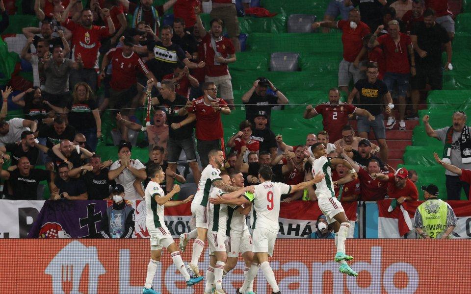 Националните отбори на Германия и Унгария играят при