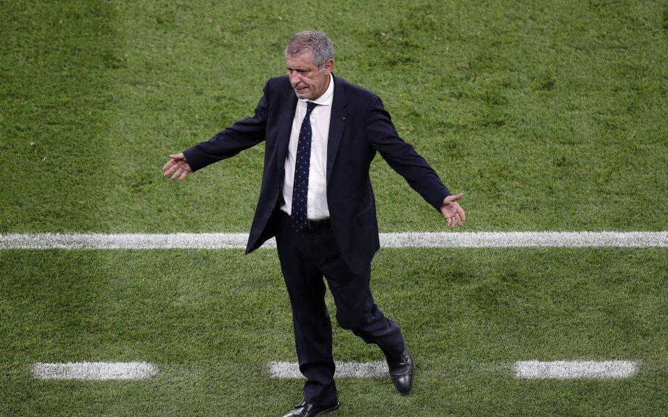 Селекционерът на настоящия европейския шампион Португалия Фернандо Сантош остана доволен