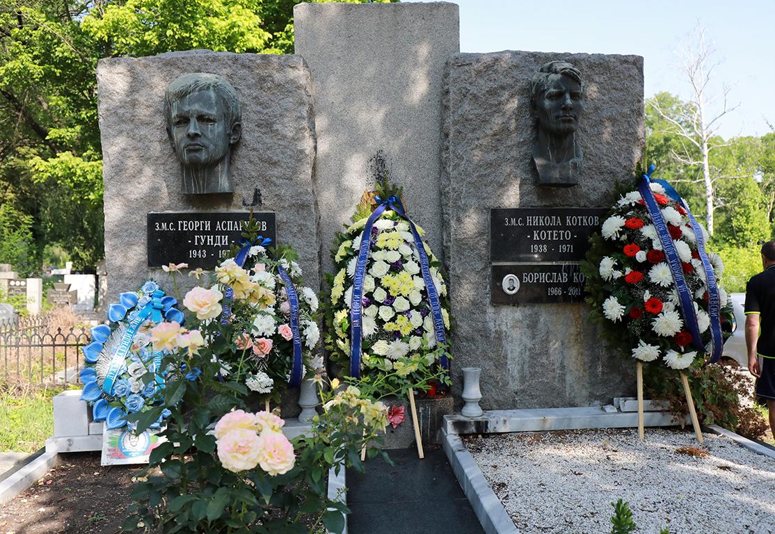 <p>Панихида по повод 50 години от смъртта на две икони на българския футбол - Георги Аспарухов и Никола Котков</p>