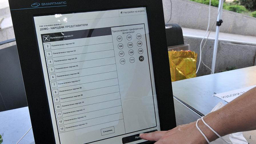 Демонстрация на машинно гласуване