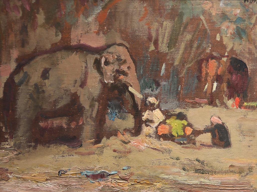 <p>Илия Петров (1903 &ndash; 1975) Пейзаж от Индия III, 1961 маслени бои, платно върху картон</p>