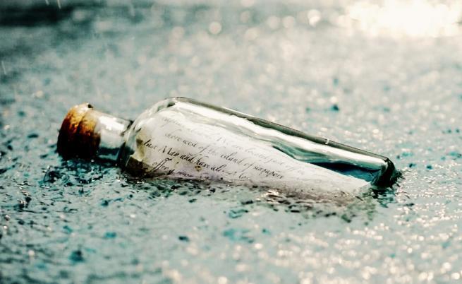Какво пише в най-интересните писма в бутилка