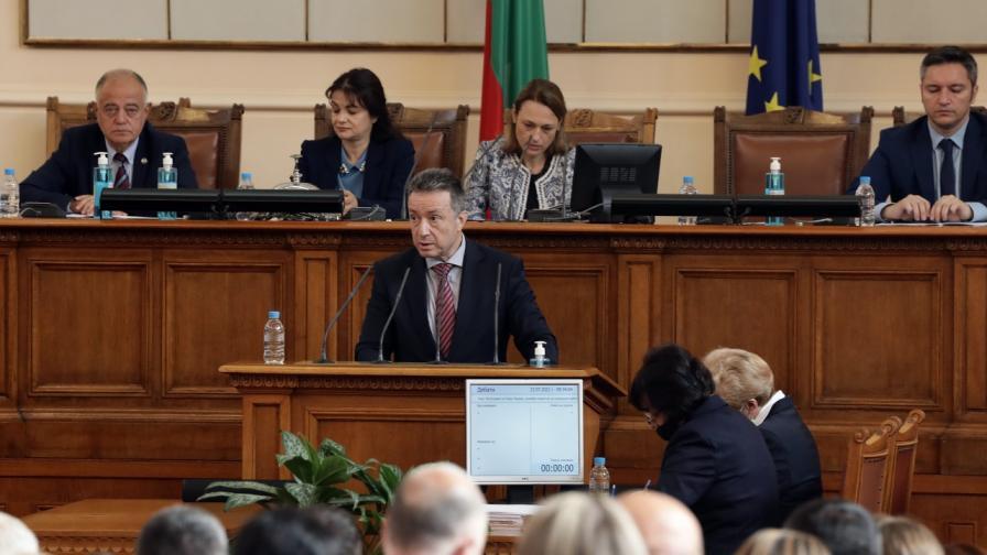 Министърът на правосъдието Янаки Стоилов на изслушването му пред НС