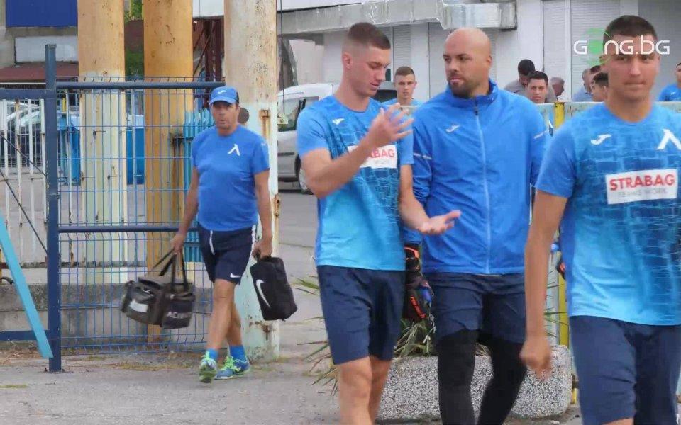 Отборът на Левски проведе следобедна тренировка ден преди мача със