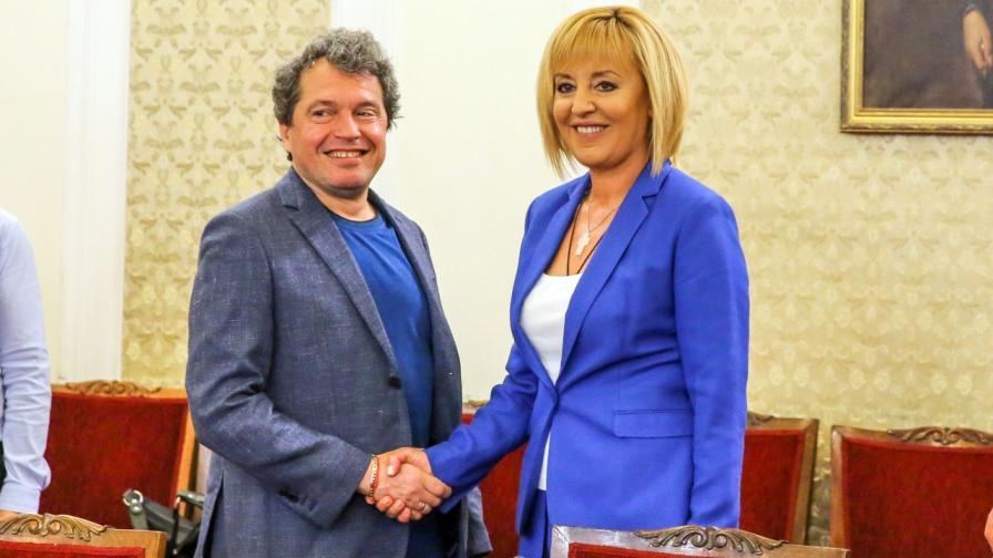 """Тошко Йорданов от """"Има такъв народ"""" и Мая Манолова - лидер на """"Изправи се! Ние идваме!"""""""