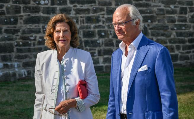 Крал Карл ХVI Густав и съпругата му Силвия