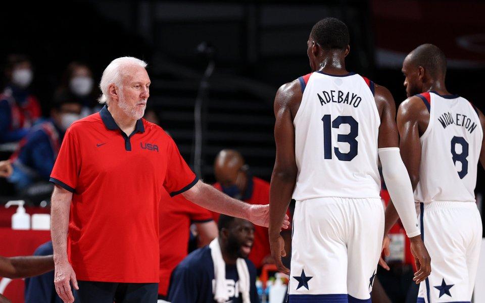 Стремящият се към четвърта поредна олимпийска титла в мъжкия баскетбол