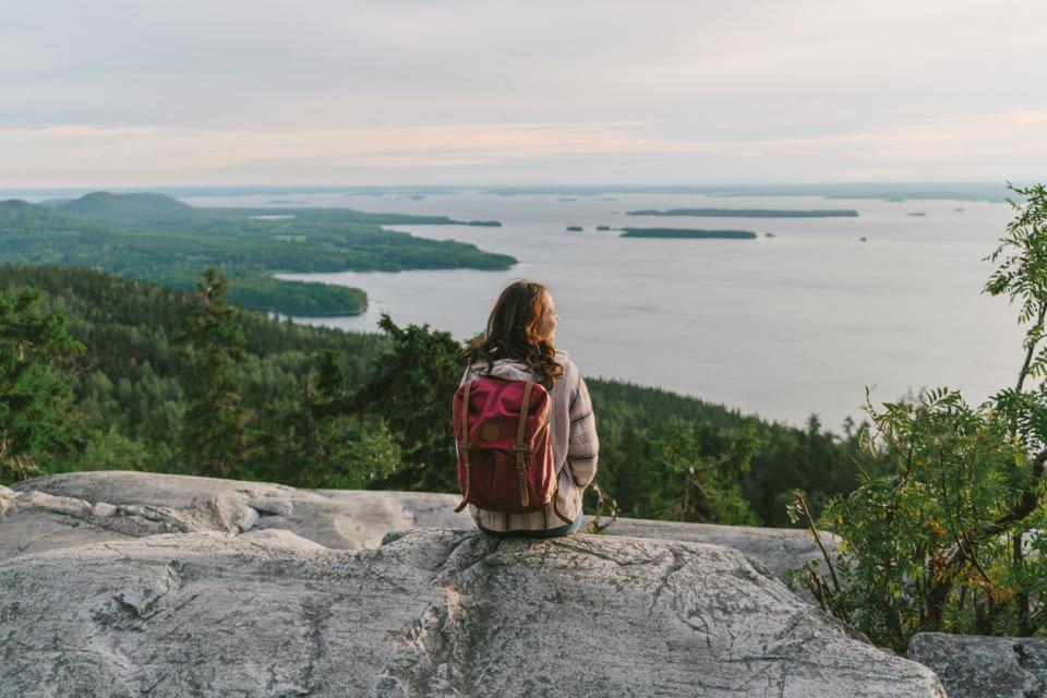жена природа езеро гледка пътуване пътешествие