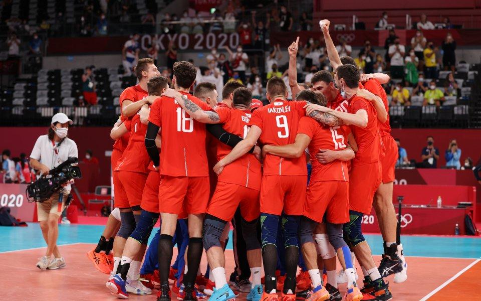 Руския олимпийски комитет победи Бразилия с 3:1 (18:25, 25:21, 26:24,