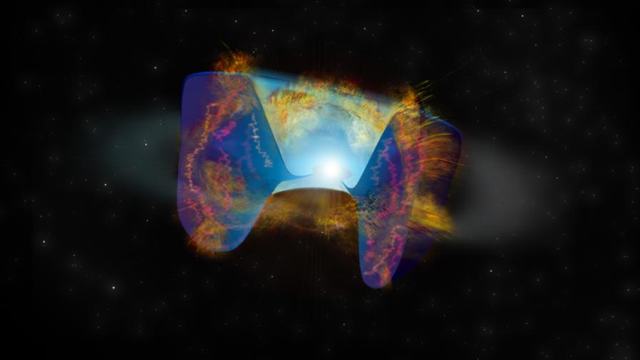 Астрономи откриха уникална експлозия на супернова