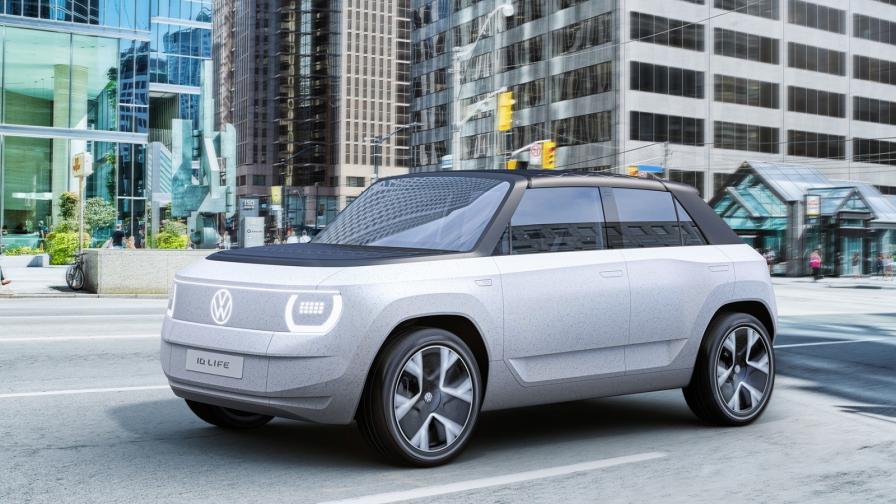 <p>Поглед към е-колата на VW, която ще струва около 20 000 евро</p>