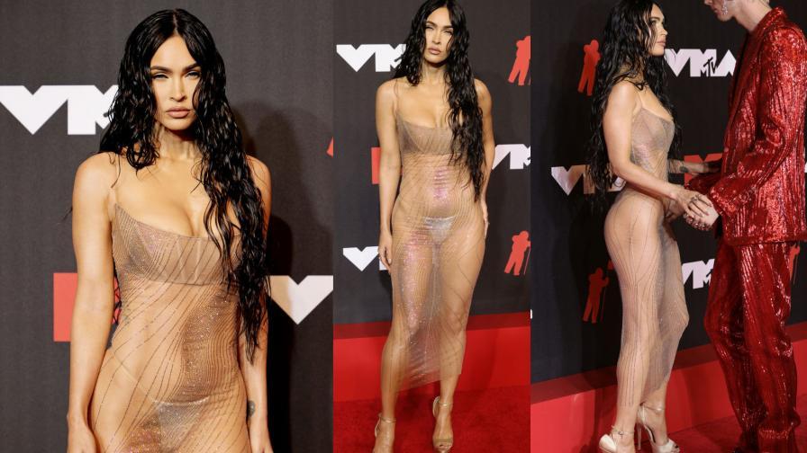 Меган Фокс на червения килим на видео музикалните награди на MTV