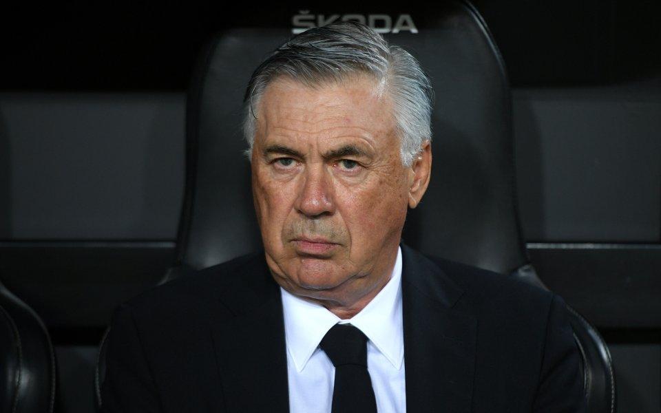 Треньорът на Реал Мадрид Карло Анчелоти отчете добрата игра на