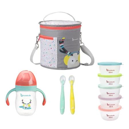 Термоизолираща чанта, Купички, Лъжици и Чаша с дръжки