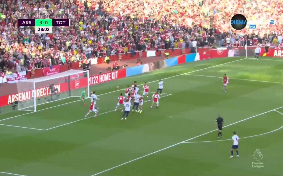 Арсенал - Тотнъм 3:0 /първо полувреме/