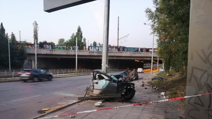 Тежка катастрофа в София, двама пострадали