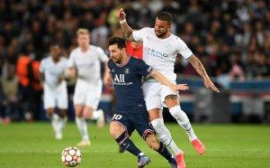 НА ЖИВО: ПСЖ води на Ман Сити, Меси вкара първия си гол за парижани