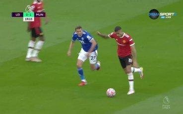 Страхотен гол на Грийнууд даде аванс на Ман Юнайтед в Лестър