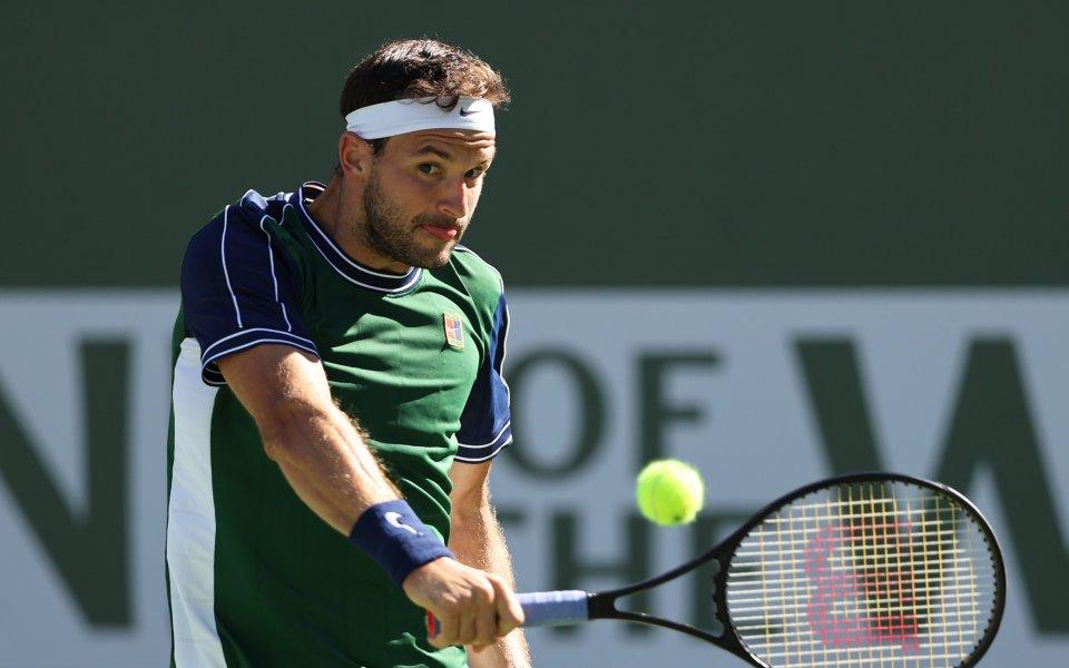 Най-добрият български тенисист Григор Димитров не успя да стигне до