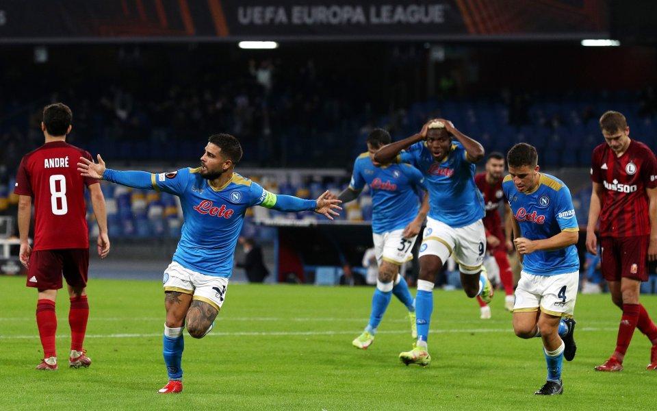 Наполи победи с 3:0 Легия Варшава у дома във възлов