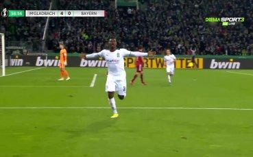 Втори гол на Емболо и 5:0 за Гладбах