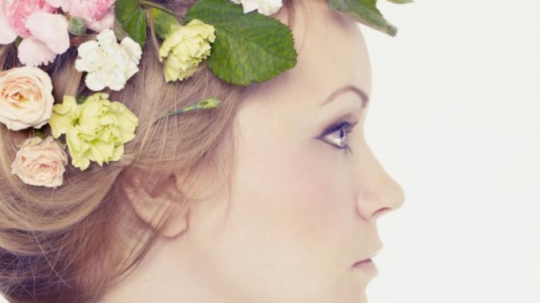 цветя профил момиче жена красота