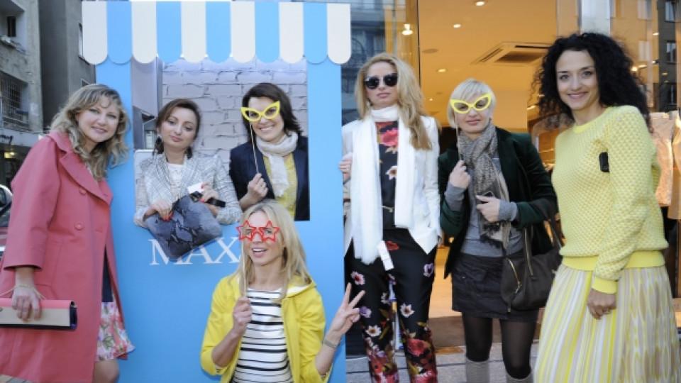 """Клиентките на """"Макс и Ко"""" у нас се преобразиха в модели, представящи новата колекция за сезон пролет-лято 2013 на италианския бранд. Дамата с жълто яке е Светлана Блокина - мениджър """"Продажби и маркетинг"""" на """"Макс и Ко"""" за Европа"""