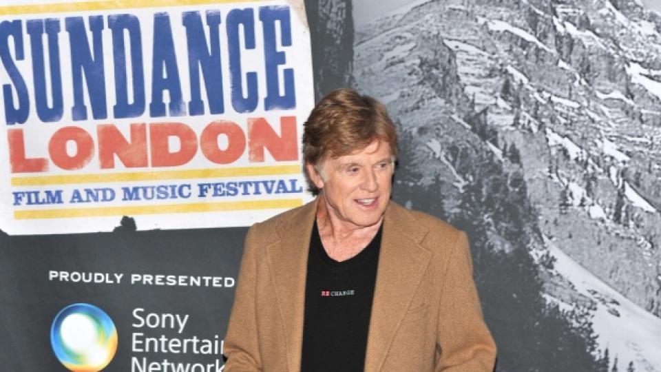 """Робърт Редфорд по време на вчерашното откриване на фестивала """"Sundance London Film and Music Festival"""" в английската столица"""