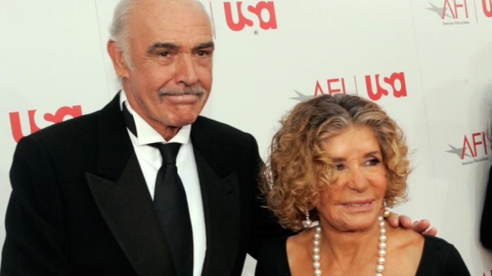 Шон Конъри и съпругата му Мишлен са женени от 1975 г.