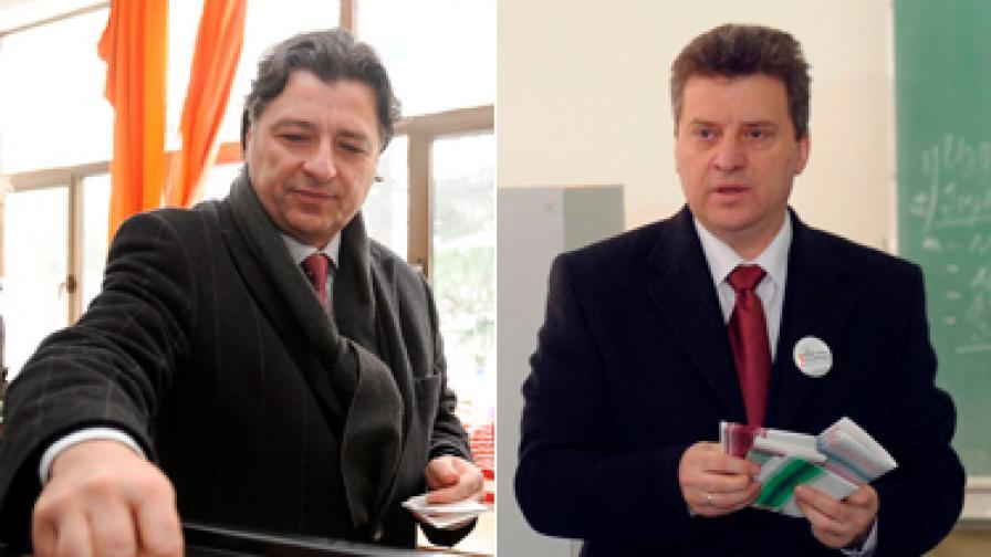 Любомир Фръчковски (вляво) и Георге Иванов се борят за президентския пост.