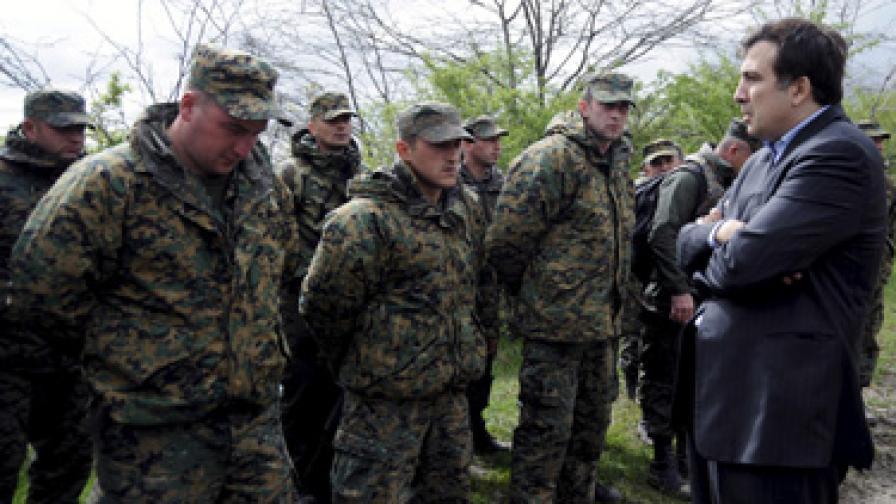 Саакашвили лично разговаря с разбунтувалите се войници