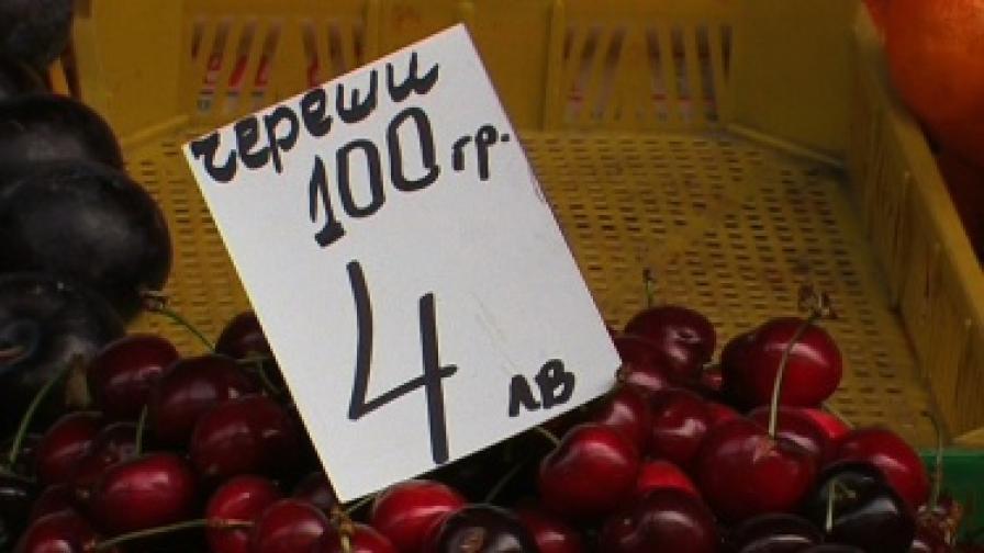 "40 лева струват килограм череши на Бургаския централен пазар ""Краснодар""."