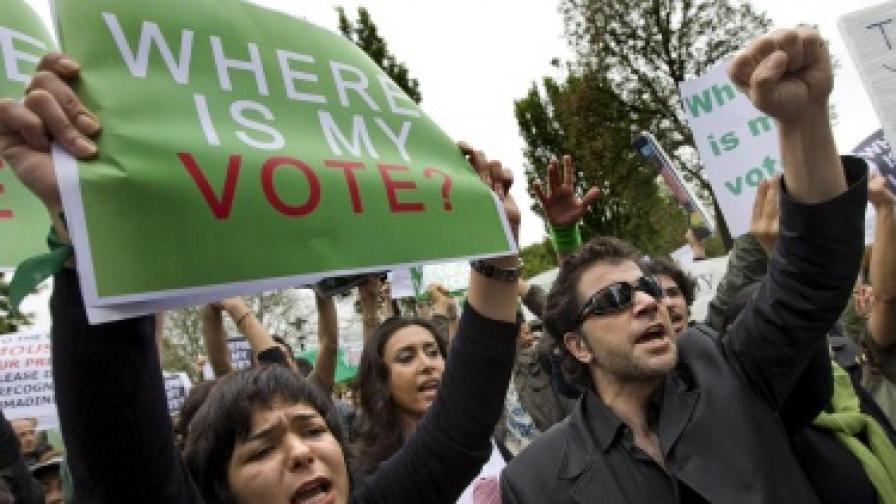 В Иран забраняват опозиционните протести