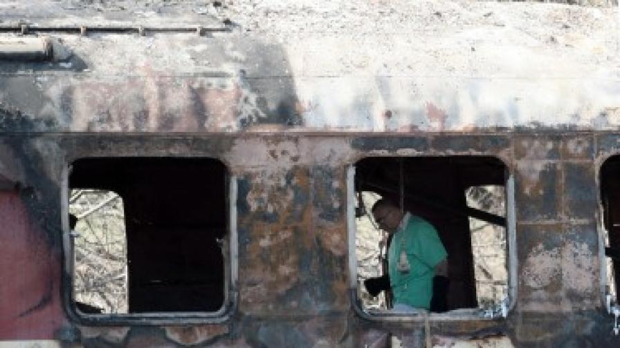 Задържат в ареста шафнера на изгорелия влак София-Кардам
