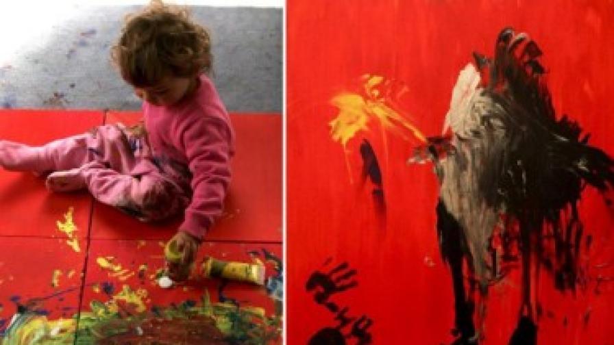 6-годишен художник прави самостоятелна изложба