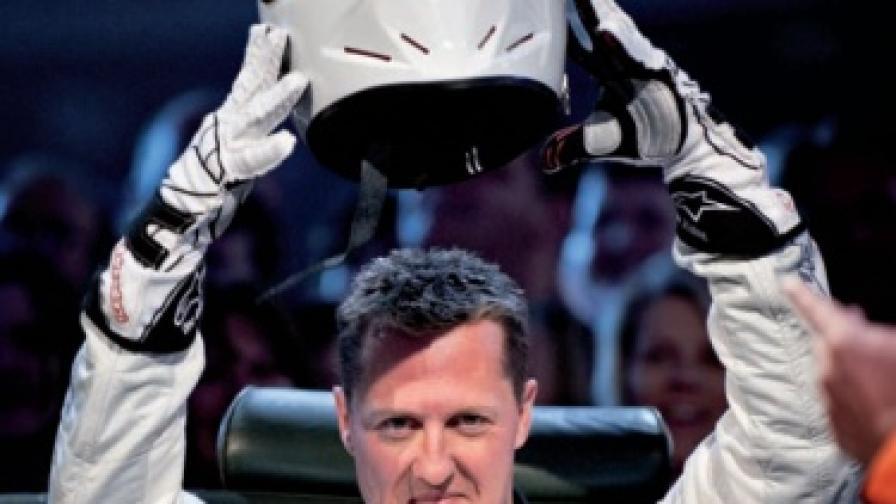"""""""Топ Гиър"""": Шумахер като Стиг"""