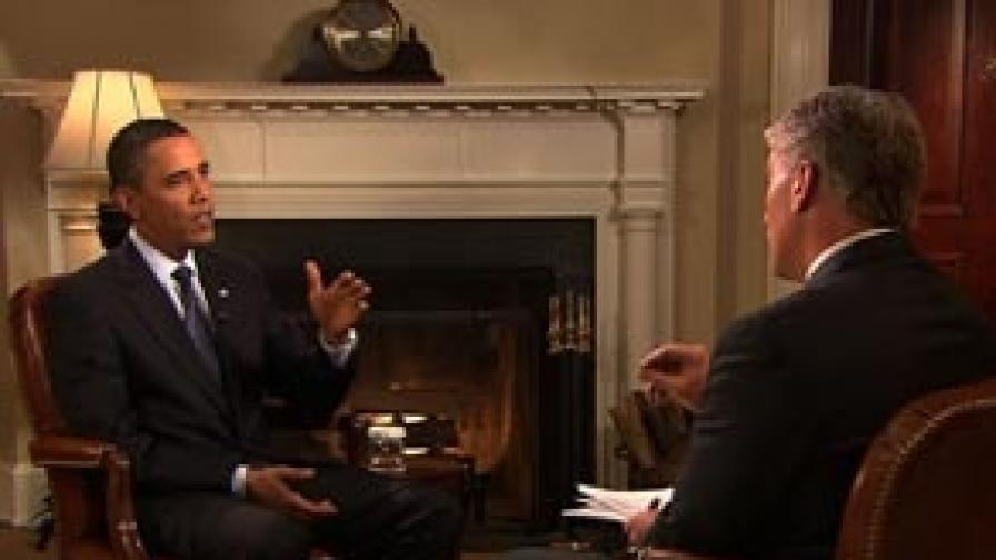 Президентът по време на интервюто за Си Ен Ен