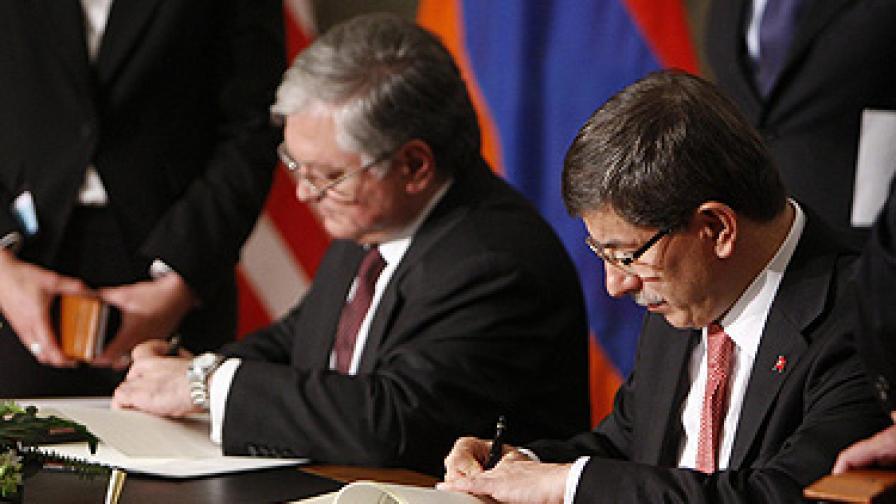 Турция и Армения все пак стоплиха отношенията