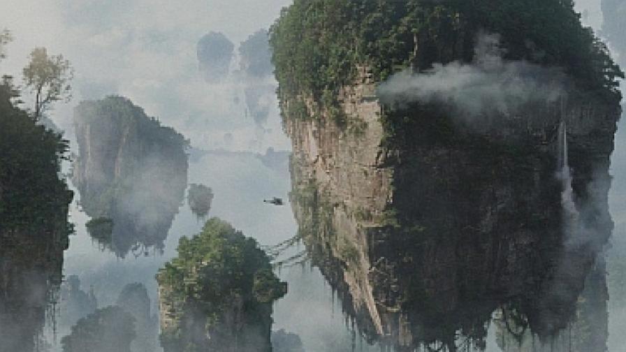 """Висящите планини Алилуя са една от най-впечатляващите природни гледки в """"Аватар"""""""