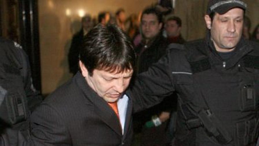 Красимир Маринов-Големия Маргин при влизането му в съда на заседанието през януари