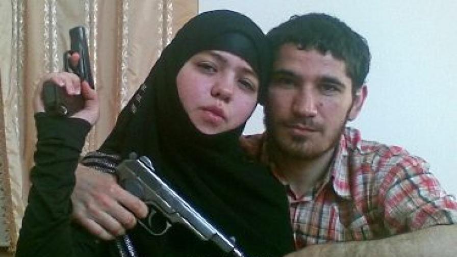 17-годишната атентаторка Дженет Абдурахманова и съпругът й Умалат Магомедов