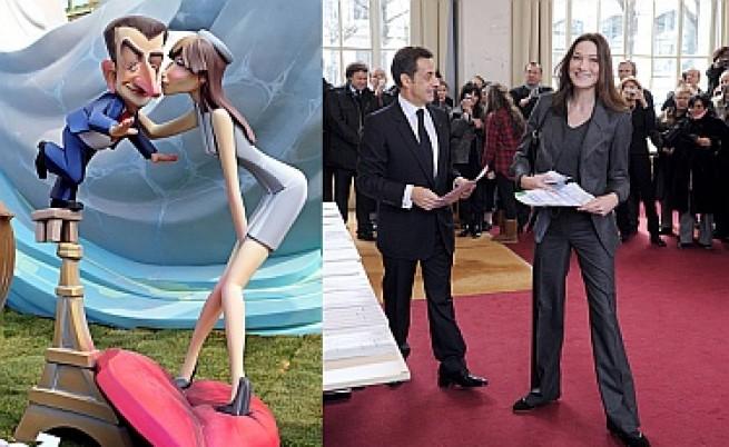 Рекламна шега с ниския ръст на Никола Саркози