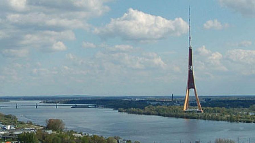 Телевизионната кула в Рига