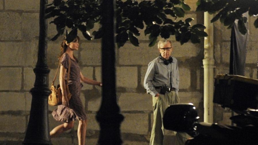 Карла Бруни-Саркози се снима в новия филм на Уди Алън